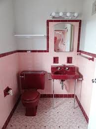 pink and red retro bathroom pink bathrooms pinterest pink retro