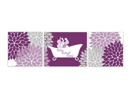 Bathroom Wall Art Purple Decor INSTANT DOWNLOAD Flower Burst Bathtub Home