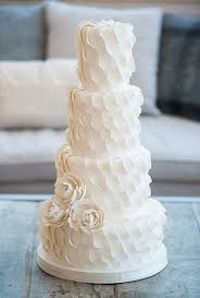 Textured Wedding Cakes Ivory and Rose Cake pany