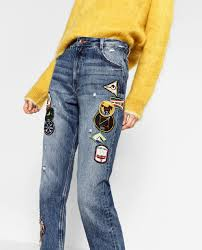 image 2 of patch jeans from zara my style pinterest patched
