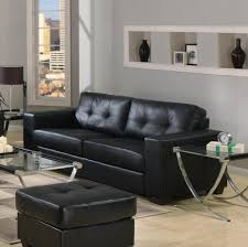 Black Leather Sofa Decorating Pictures by Furniture Black Tufted Leather Sofa And Ottoman Including Glass