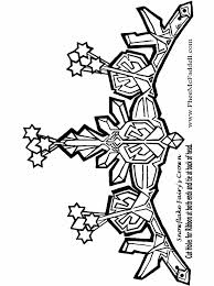 Snowflake Fairies Crown To Color Black And White Coloring Craft Pages Pheemcfaddell