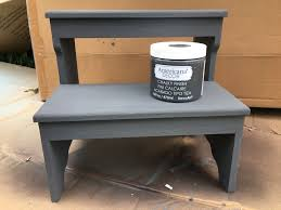 Americana Decor Chalky Finish Paint Colors by Steps To Chalk Painting A Step Stool