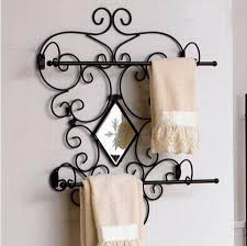 Wall Towel Shelf Wrought Iron Hand Make