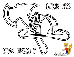 Fire Truck Coloring Pages Hat - Get Coloring Pages