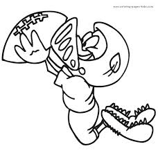 Sports Coloring Pages For Boys Football Www Crayola Com Free Disney
