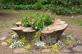 deco tronc d arbre jardin exotique un tronc d arbre devient un élément décoratif
