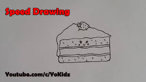 Speed Drawing of How to draw cake slice