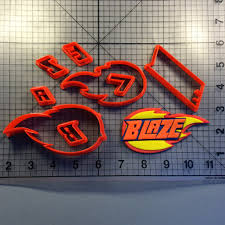 100 Monster Truck Cookie Cutter Blaze Logo Set Animations Cartoons And Kids Shows