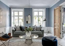 feng shui wandfarbe wohnzimmer hellblau mit grauem stich