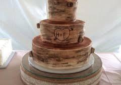 Log Inspired Wedding Cake