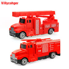 Sliding Alloy Car Truck Model Diecast Mini Water Tank Fire Truck ...