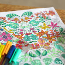 A Small Bite Of Mondocherry Colouring In
