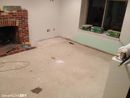 Preparing Concrete Subfloor For Tile by I Always Wanted To Try Self Leveler Family Room 9