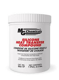 Heat Sink Materials Comparison by Mg Chemicals Silicone Heat Transfer Compound 1 Pint Tub White