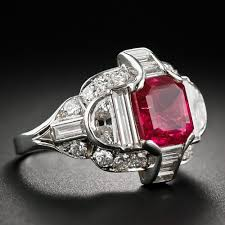 deco ruby and ring ring exceptional deco no heat burma ruby platinum and