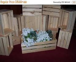 GREAT SALE Flower Planter Box Wooden Crates 18in Wedding Centerpieces Rustic Wood Table Centerpiece Vases