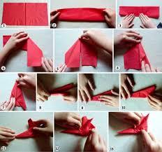 serviette de noel en papier pliage de serviettes de noël en papier pour les enfants