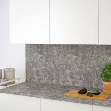 ekbacken arbeitsplatte dunkelgrau marmoriert laminat 246x2