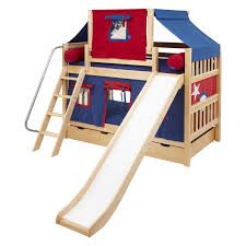 Twin Over Twin Bunk Beds With Trundle by Laugh Boy Twin Over Twin Slat Slide Tent Bunk Bed Hayneedle