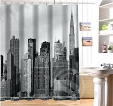 New York Curtains Custom Waterproof Bath Curtain New City