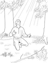 Joseph Smith And The First Vision Primary Coloring Page Lds Pages Books