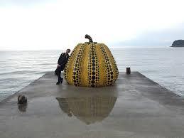 Yayoi Kusama Pumpkin Sculpture by Setouchi Triennale Art Festival U2013 Fortunatefukui