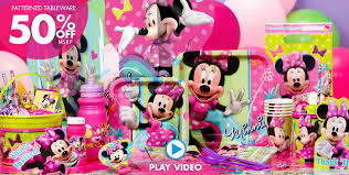40th Birthday Decorations Canada by Minnie Mouse Party Supplies Minnie Mouse Birthday Party City