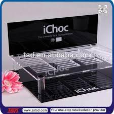 TSD A087 Custom Supermarket Countertop Acrylic Chocolate Display Standschocolate Casetable