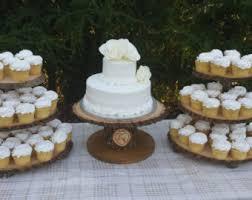 Tree Cupcake Stand Log Rustic Cake Wood