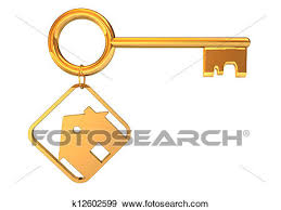 Stock Illustration Of Golden Key House K12602599