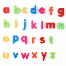Colorful Small Letters Alphabet Fridge Sticker Magnets For