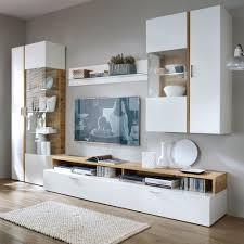 wohnzimmer wohnwand in weiß eiche furnier 4 teilig jetzt