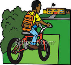 Riding To School Clipart