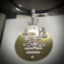 100 Pearl Design Coral Broome Pendant Sterling Silver