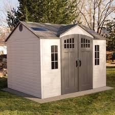 lifetime 10 x 8 outdoor storage shed with carriage doors sam s