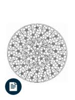 Flower Garden Coloring Book Mandala