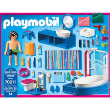 playmobil konstruktions spielset badezimmer 70211 dollhouse 51 st made in germany
