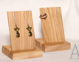 Ash Earring Display Wood Jewelry Holder Wooden Card Stand