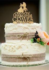 Silhouette Personalized Wedding Cake Topper Mr And Mrs Rustic Beach Decor