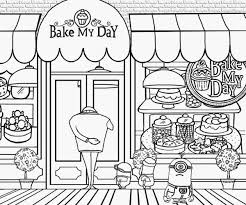 bakery shop clipart black and white 4