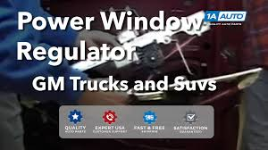 How To Install Replace Power Window Regulator Chevy Silverado GMC ...