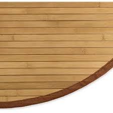 homestyle4u 363 bambusteppich rund rutschfest bambusmatte bad braun 200 cm