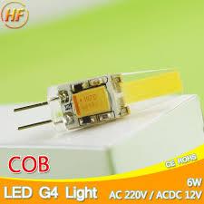 wholesale top quality g4 ac dc 12v ac 220v cob led bulb 6w led g4