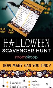 Easy Halloween Scavenger Hunt Clues by Halloween Night Scavenger Hunt Free Printable Momskoop