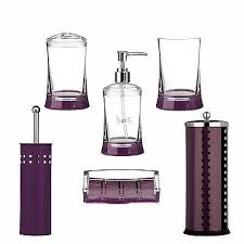 Purple Crackle Glass Bathroom Accessories by Best Of Purple Bathroom Accessories