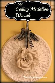 Small Two Piece Ceiling Medallions by Priscillas Diy Ceiling Medallion Wreath With Book Page Rose