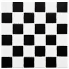 merola tile boreal checker black and white 11 7 8 in x 11 7