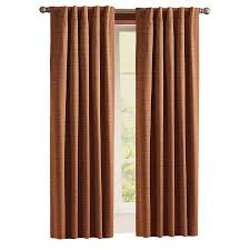 Lowes Canada Blackout Curtains by Shop Style Selections Roberta 84 In Brick Polyester Back Tab Room