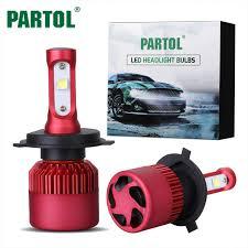partol 80w h4 h7 h11 9005 9006 h13 car led headlight bulbs auto
